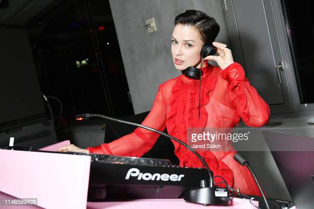 Nastia spins during the Prada Resort 2020 fashion show at Prada Headquarters on May 02 2019 in New York City