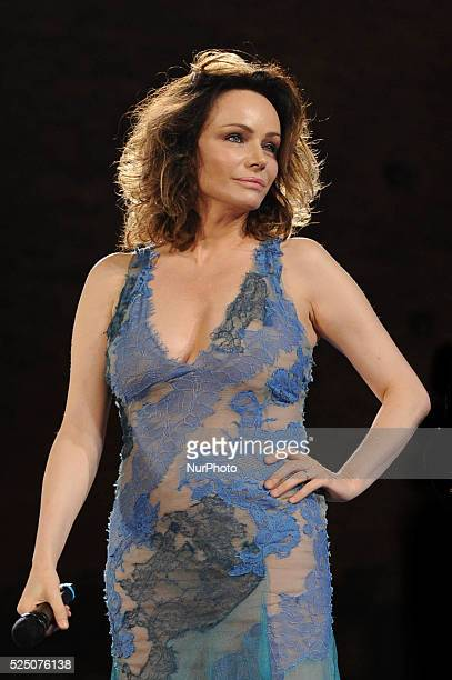 Nastri d'Argento awards in Taormina Sicily island Italy 06 July 2013 In the photo Italian actress Francesca Neri Photo Andrea Signorello/NurPhoto