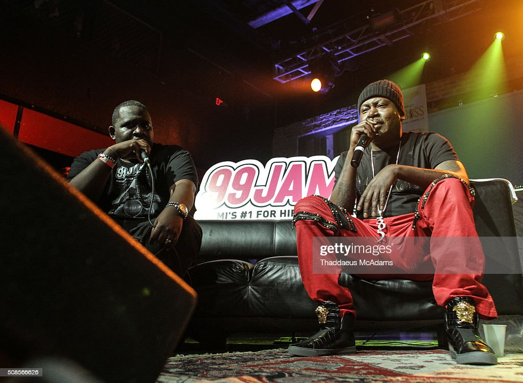 DJ Nasty and Trick Daddy at Revolution on February 4, 2016 in Fort Lauderdale, Florida.