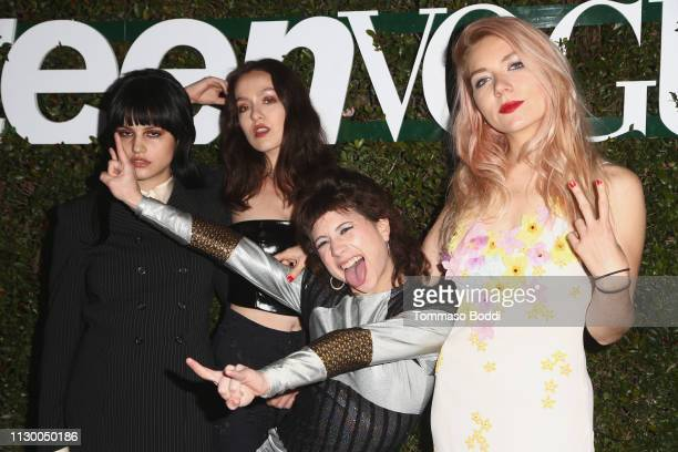 Nasty Cherry attends the Teen Vogue's 2019 Young Hollywood Party Presented By Snap at Los Angeles Theatre on February 15 2019 in Los Angeles...