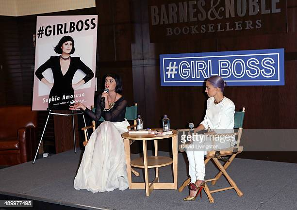 Nasty Gal Founder and CEO Sophia Amoruso and designer Nicole Richie attend a signing for Amoruso's new book '#GIRLBOSS' at Barnes Noble bookstore at...