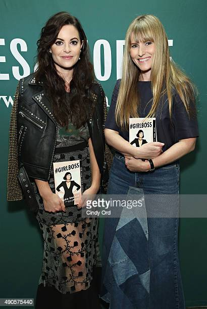 Nasty Gal Founder/ author Sophia Amoruso and EditorinChief of Teen Vogue Amy Astley attend Sophia Amoruso's launch event for the paperback of...