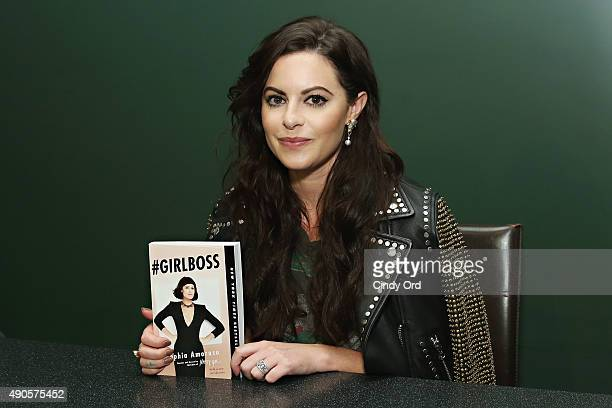 Nasty Gal Founder/ author Sophia Amoruso attends Sophia Amoruso's launch event for the paperback of #GIRLBOSS in conversation with Amy Astley EIC of...