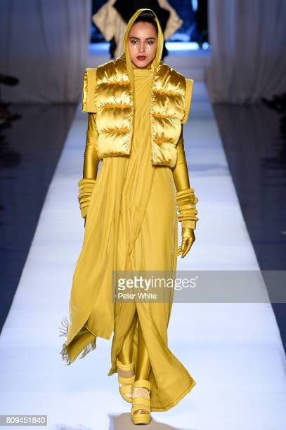 Nastya Lupey walks the runway during the Jean Paul Gaultier Haute Couture Fall/Winter 20172018 show as part of Haute Couture Paris Fashion Week on...