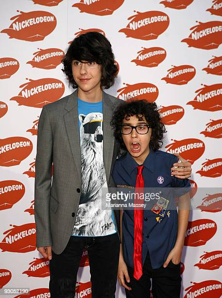 Nat and Alex Wolff arrive for the Australian Nickelodeon Kids' Choice Awards 2009 at Hisense Arena on November 13 2009 in Melbourne Australia