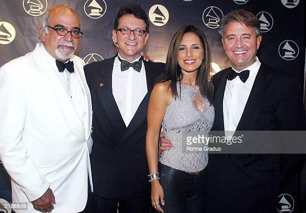 Nat Chediak former FIU Miami Film Festival Director Latin Recording Academy President Gabriel Abaroa singer Soraya and Latin Recording Academy...