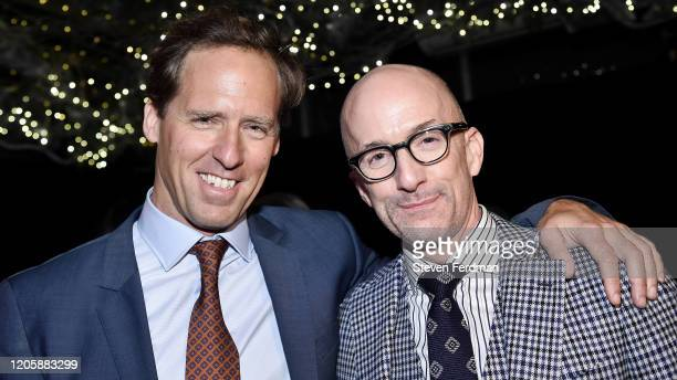 Nat Faxon and Jim Rash attend the Downhill New York premiere after party at Eataly on February 12 2020 in New York City