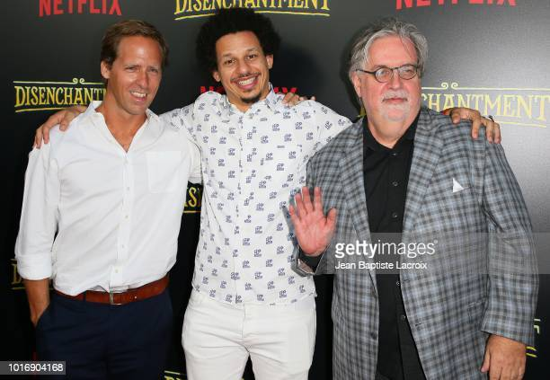 Nat Faxon Eric Andre and Matt Groening arrive to the Los Angeles screening of Netflix's 'Disenchantment' held at the Vista Theatre on August 14 2018...