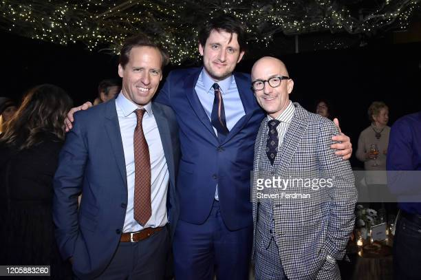 Nat Faxon Zach Woods and Jim Rash attend the Downhill New York premiere after party at Eataly on February 12 2020 in New York City