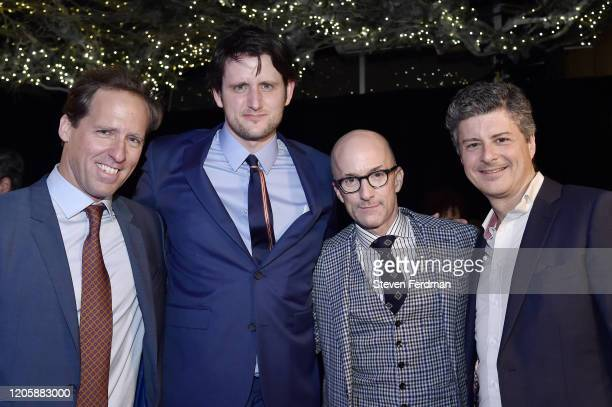 Nat Faxon Zach Woods Jim Rash and Anthony Bregman attend the Downhill New York premiere after party at Eataly on February 12 2020 in New York City