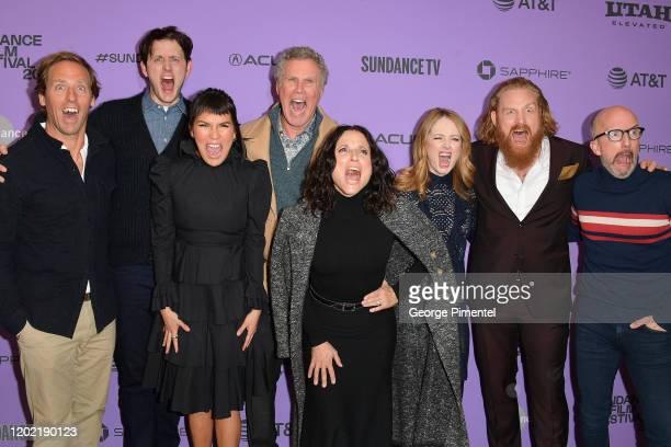 Nat Faxon Zach Woods Zoë Chao Will Ferrell Julia LouisDreyfus Miranda Otto Kristofer Hivju and Jim Rash attend the 2020 Sundance Film Festival...