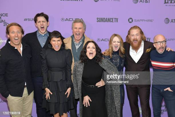 Nat Faxon Zach Woods Zoë Chao Will Ferrell Julia LouisDreyfus Miranda Otto Kristofer Hivju and Jim Rash attend the 2020 Sundance Film Festival...