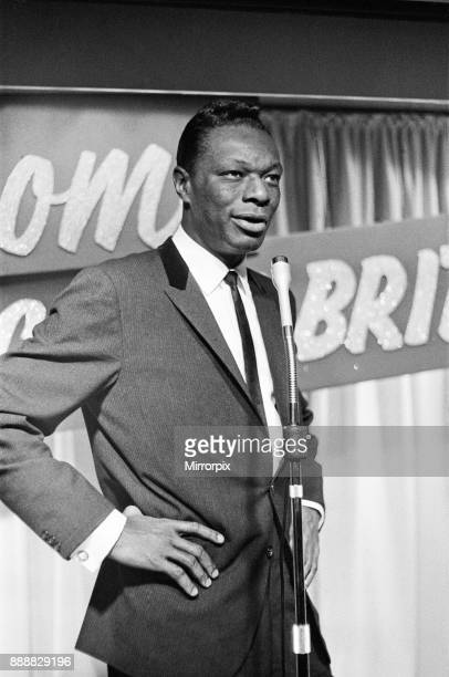 Nat King Cole, American singer, and pianist performing in London. He flew in earlier in the day from his European tour, picture taken 12th May 1960 .