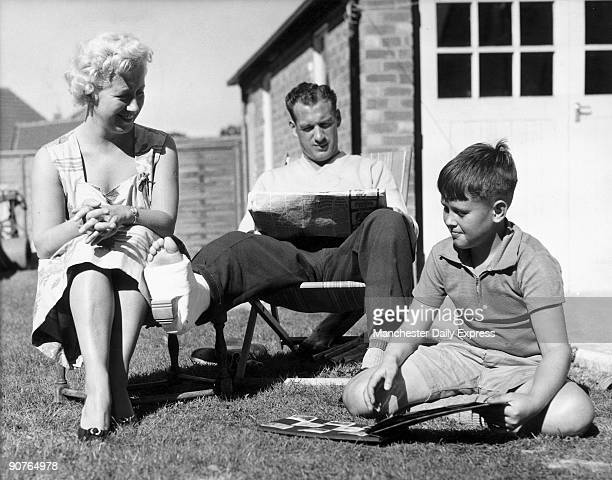 Nat Lofthouse rests at home with his wife Alma and son Geoff Boltonborn Nat Lofthouse played centreforward for Bolton Wanderers and England scoring...