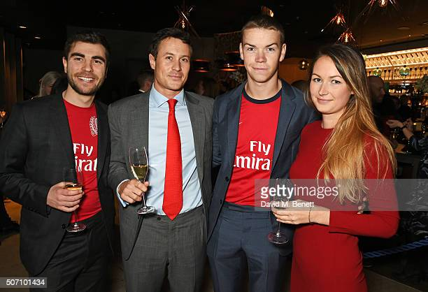Nat Meyers Ed Poulter Will Poulter and Jo Poulter attend the launch of M Victoria Street in aid of Terrence Higgins Trust on January 27 2016 in...