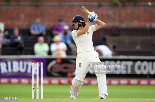 Nat Sciver of England bats during Day Four of the Kia Women's Test Match between England Women and Australia Women at The Cooper Associates County...