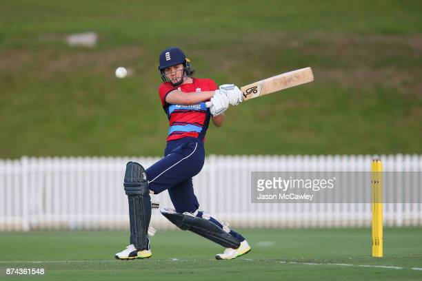 Nat Sciver of England bats during the T20 match between the GovernorGeneral's XI and England at Drummoyne Oval on November 15 2017 in Sydney Australia