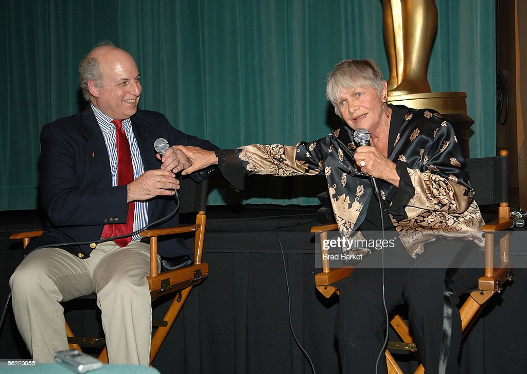 Nat Segaloff and Estelle Parsons speak at the Academy Pays Tribute To Arthur Penn at the Academy Theater at Lighthouse International on November 17, 2005 in New York City.