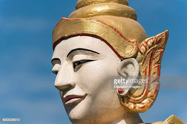 Nat spirit statue Uzina Pagoda U Zina Paya in Mawlamyine Mawlamyaing Mon State Burma Myanmar