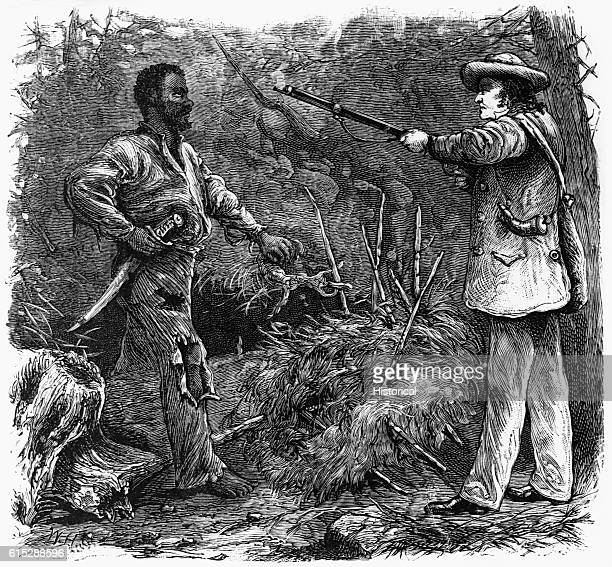 Nat Turner is accosted in the forest by a slave hunter. Turner was a slave who led an uprising, killing his master's family and about fifty other...