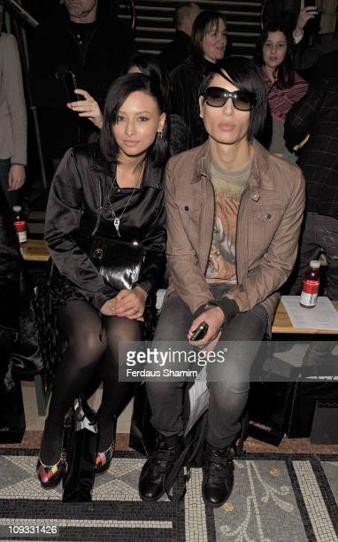 Nat Weller and Lea Weller are seen at the front row at the Giles show at London Fashion Week Autumn/Winter 2011 on February 21 2011 in London England