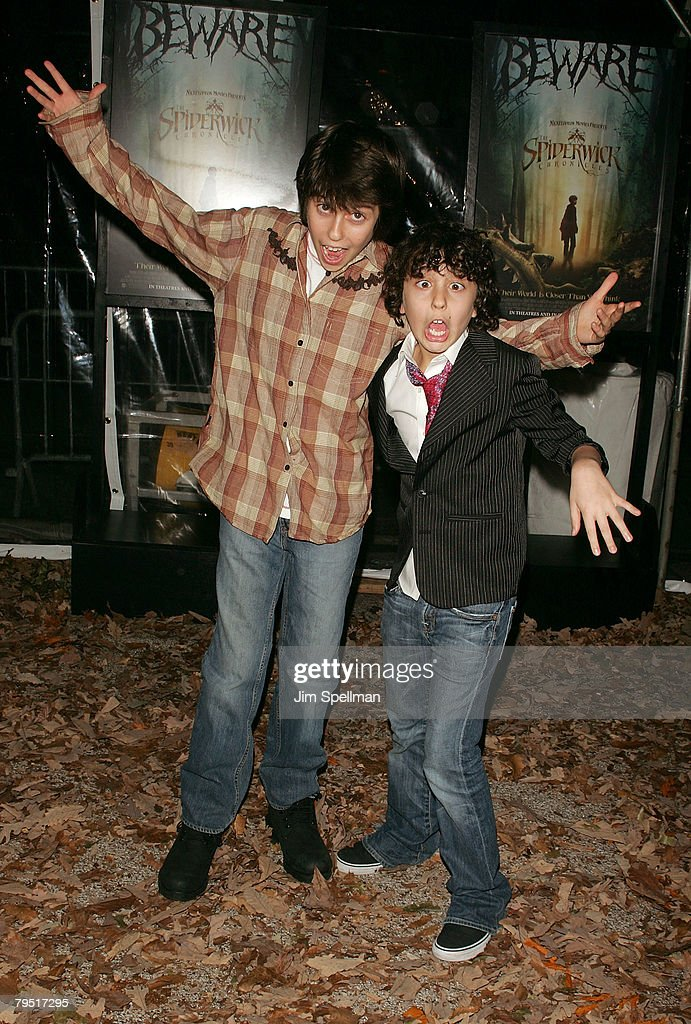 Nat Wolff and Alex Wolff arrive at 'The Spiderwick Chronicles' premiere at AMC Lincoln Square on February, 4 2008 in New York City.