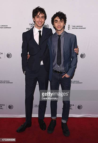Nat Wolff and Alex Wolff attend the premiere of 'Ashby' during the 2015 Tribeca Film Festival at the SVA Theater on April 19 2015 in New York City