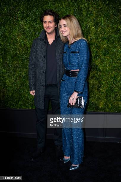 Nat Wolff and Grace Van Patten attend the Chanel 14th Annual Tribeca Film Festival Artists Dinner at Balthazar on April 29, 2019 in New York City.