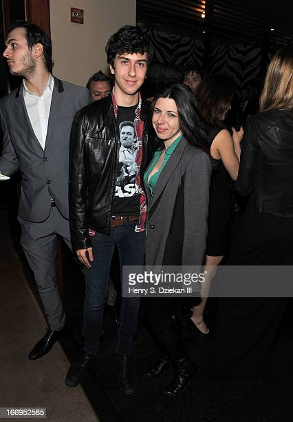 """Nat Wolff and Heather Matarazzo attend the after party for the Cinema Society & Bally screening of Sony Pictures Classics' """"At Any Price"""" at Clarkson..."""
