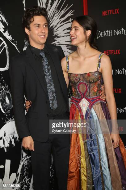 Nat Wolff and Margaret Qualley attend Death Note New York Premiere at AMC Loews Lincoln Square 13 theater on August 17 2017 in New York City