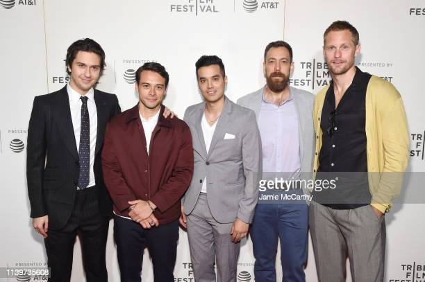 Nat Wolff Jonathan Whitesell Brian Marc Dan Krauss and Alexander Skarsgård attend the The Kill Team screening during the 2019 Tribeca Film Festival...