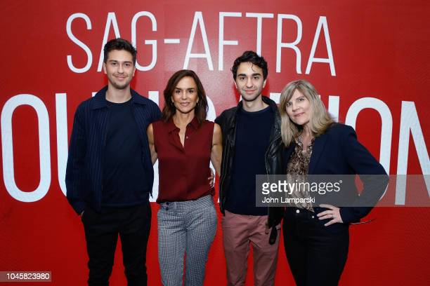 Nat Wolff Polly Draper Alex Wolff and Lori Hammel attends SAGAFTRA Foundation Conversations Stella's Last Weekend at The Robin Williams Center on...
