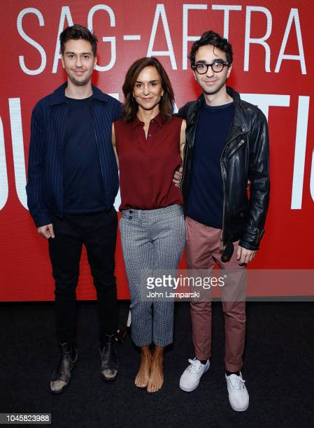 Nat Wolff Polly Draper and Alex Wolff attend SAGAFTRA Foundation Conversations Stella's Last Weekend at The Robin Williams Center on October 4 2018...