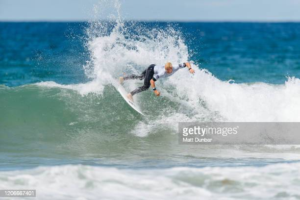 Nat Young of The United States surfing in Round 3 of the 2020 Sydney Surf Pro at Manly Beach on 11 March 2020 in Sydney Australia today