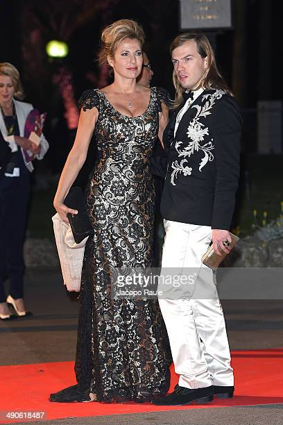 Natacha Amal and Christophe Guillarme arrive at the after party for 'Grace of Monaco' on day 1 of the 67th Annual Cannes Film Festival on May 15 2014...