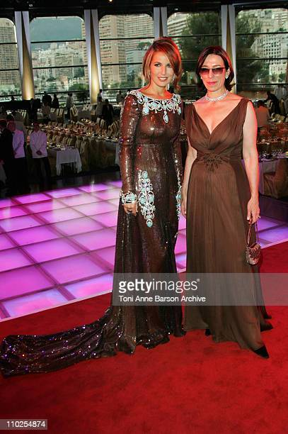 Natacha Amal and Guest during 2005 Monaco Red Cross Ball Arrivals at Monte Carlo Sporting Club in Monte Carlo Monaco