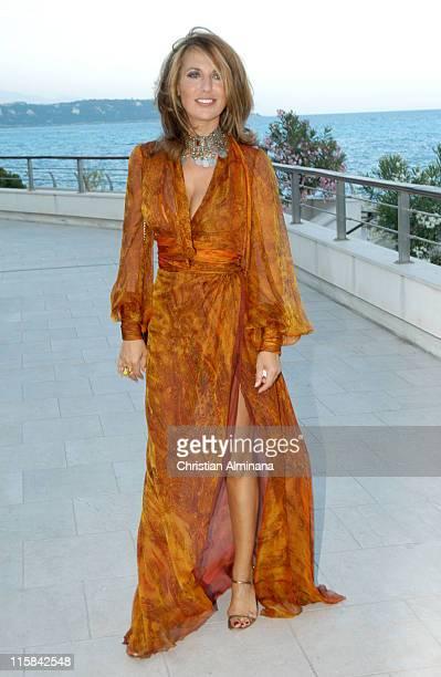 Natacha Amal during 45th Monte Carlo Television Festival TF1 Cocktail Arrivals at Grimaldi Forum in Monte Carlo Monaco