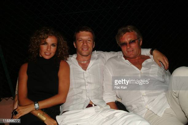 Natacha Amal Samuel Le Bihan and her husband during Samuel le Bihan Party at Private Villa Patch on Boulevard in Saint Tropez France