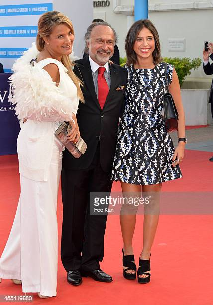 Natacha Dassault Olivier Dassault and daughter attend the 'Sin City A Dame To Kill For' Premiere 40th Deauville American Film Festival on September...