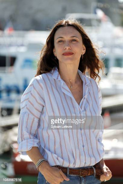 Natacha Lindinger attends day 4 photocall of 20th Festival of TV Fiction on September 15 2018 in La Rochelle France