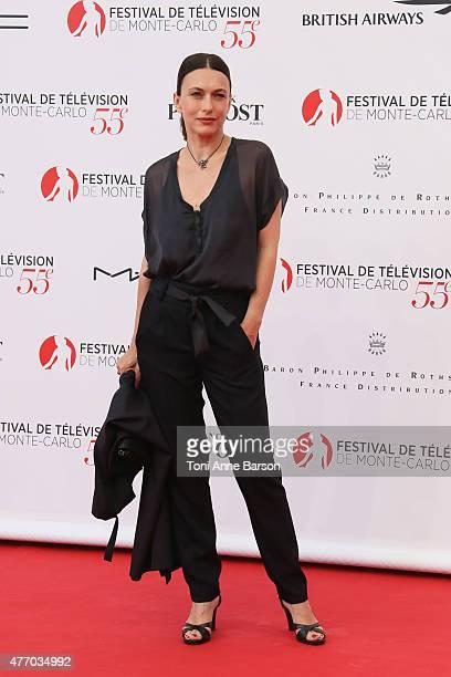 Natacha Lindinger attends the 55th Monte Carlo TV Festival Opening Ceremony at the Grimaldi Forum on June 13, 2015 in Monte-Carlo, Monaco.