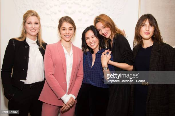 Natacha Regnier Alice Isaaz Linh Dan Pham Audrey Marnay and Jeanne Damas attend the Chaumet Boutique Re Opening Rue Francois 1er at Rue Francois 1er...