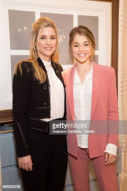 Natacha Regnier and Alice Isaaz attend the Chaumet Boutique Re Opening Rue Francois 1er at Rue Francois 1er on December 14 2017 in Paris France