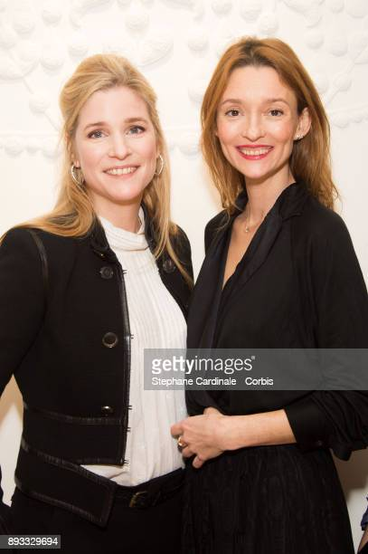 Natacha Regnier and Audrey Marnay attend the Chaumet Boutique Re Opening Rue Francois 1er at Rue Francois 1er on December 14 2017 in Paris France