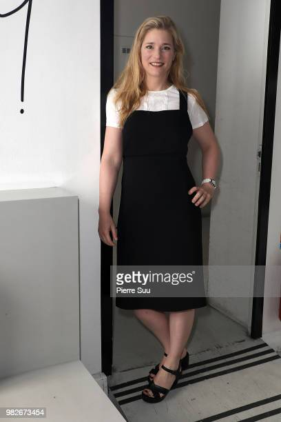 Natacha regnier attends the Agnes B Menswear Spring/Summer 2019 show as part of Paris Fashion Week on June 24 2018 in Paris France