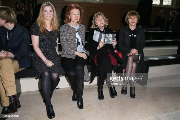Natacha Regnier Ludivine Piccoli Bulle Ogier and Dinara Droukarova attend the Agnes B show as part of the Paris Fashion Week Womenswear Fall/Winter...