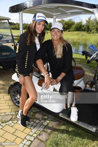 Natacha Tannous and Franziska van Almsick during the 10th GRK Golf Charity Masters on August 19 2017 in Leipzig Germany