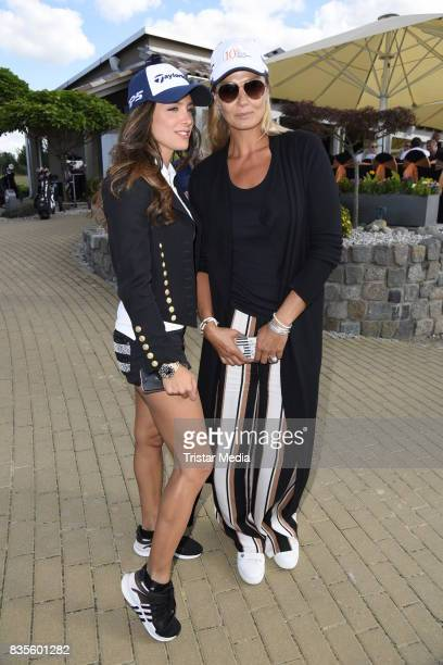 Natacha Tannous and Franziska van Almsick during the 10th GRK Golf Charity Masters on August 19, 2017 in Leipzig, Germany.