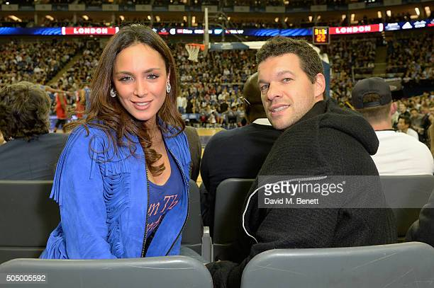 Natacha Tannous and Michael Ballack attend Orlando Magic vs Toronto Raptors NBA Global Game at The O2 Arena on January 14, 2016 in London, England.