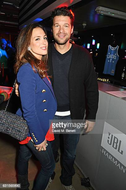 Natacha Tannous and Michael Ballack attend the NBA Global Game London 2017 after party at The O2 Arena on January 12 2017 in London England
